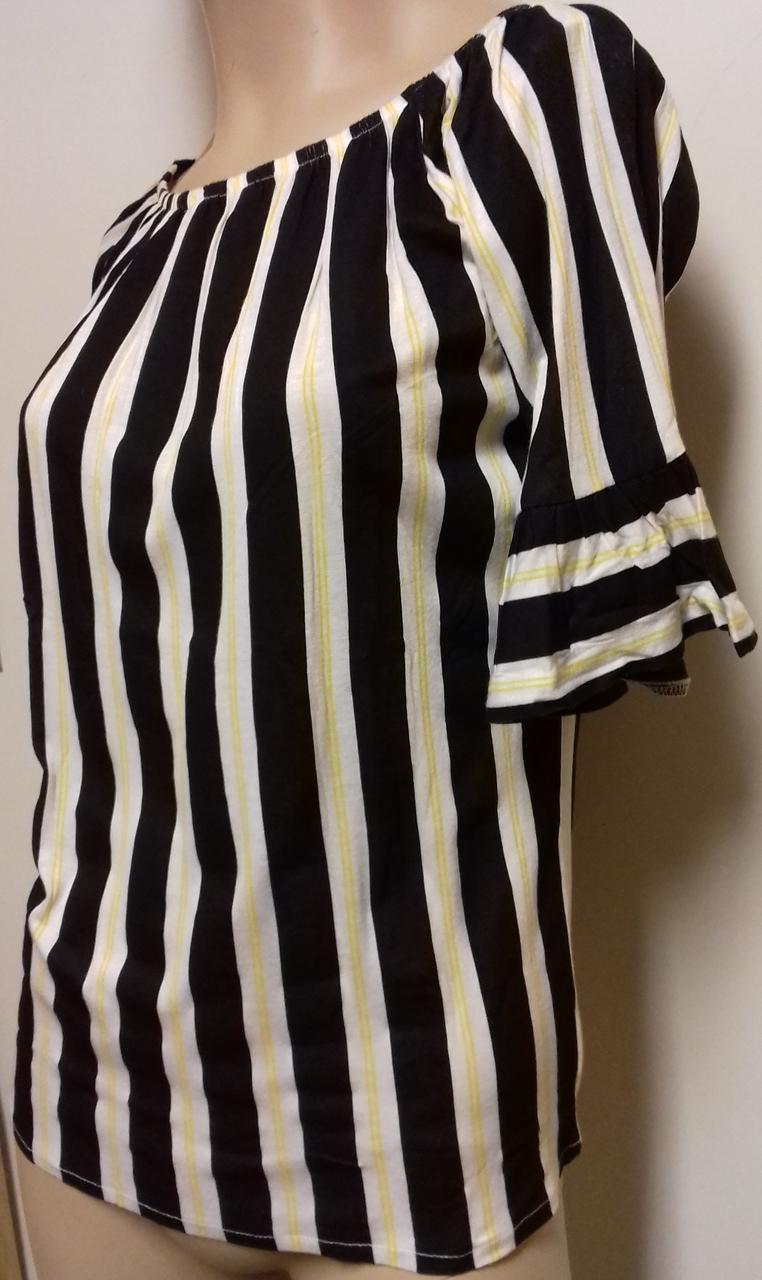 Blue Seven dames shirt zwartwit