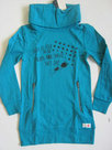 Lange-Sweater-Meisjes-Turquoise-maat-152