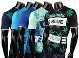Tshirt-G-Blue-Wit-maat-XXL