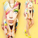 Jurkje-3D-Effect-Vrouw-met-kleur-One-Size