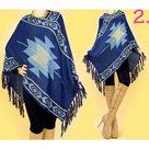 Poncho-Dames-Blauw-One-Size