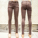 Skinny-Jeans-Dames-Bruin-maat-38