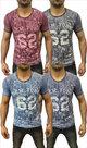 Tshirt-Bloemen-Heren-Grijs-maat-L
