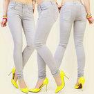 Skinny-Jeans-Dames-Grijs-maat-42