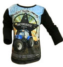 Shirt-Trekker-NEW-HOLLAND-Jongens-Zwart-maat-92