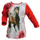 Shirt-Meisjes-Paard-Rood-maat-98-104