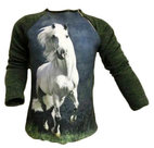 Shirt-Paard-Meisjes-Groen-maat-98-104