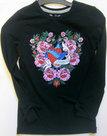 Vingino-Shirt-Meisjes-Zwart-maat-98