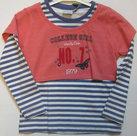 Shirt-Meisjes-Blauw-Wit-maat-98
