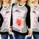 Shirt-Dames-Zwart-maat-L