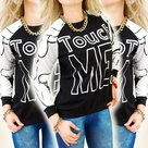 Sweater-Touch-Me-Zwart-Wit-maat-M