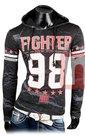 Shirt-FIGHTER-Zwart-maat-XL