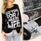 Shirt-Dames-Life-Grijs-maat-M