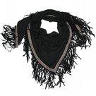 sjaal-Zwart-met-Franje