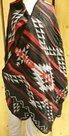 Poncho-Style-Zwart-Rood