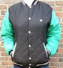 Bomberjack-zwart-Groen-maat-L