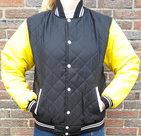 Bomberjack-zwart-Geel-maat-XL
