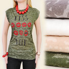 Frekans-T-Shirt-Dames-Legergroen