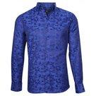 Overhemd-Heren-Donkerblauw-maat-L