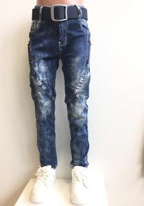 Jeans Squared & Cubes Jongens Dark Blue