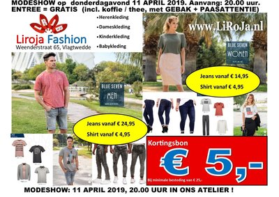 MODESHOW 11 APRIL 2019, 20.00 UUR