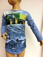 Shirt Trekker (JOHN DEERE) Jongens Lichtblauw, maat 86/92