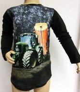 Shirt Trekker (JOHN DEERE) Jongens Zwart, maat 92