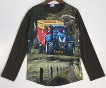 Shirt Trekker (NEW HOLLAND) Jongens Olijfgroen, maat 92