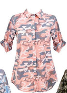 Army Blouse Dames Roze, one size