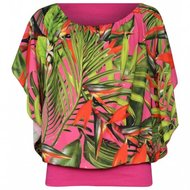 5641c318b1c Blouse, met bloemenprint Dames Pink, one size - LiRoJa Fashion