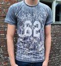 Tshirt-Bloemen-Heren-Donkerblauw-maat-M-L