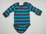 Babyromper-Antraciet-Blauw-maat-68