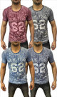 Tshirt-Bloemen-Heren-Rood-maat-M