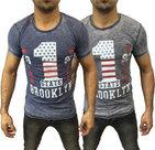 Tshirt-Brooklyn-Heren-Blauw-maat-L
