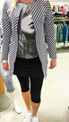 Vest-Dames-Donkerblauw-Wit-maat-XXL