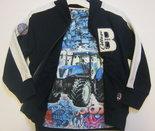 Vest-+-Trekker-Tshirt-Blauw-maat-98