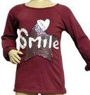 Shirt-Smile-Meisjes-Donkerrood-maat-98-104