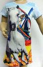 Jurk-Paard-Meisjes-Lichtblauw