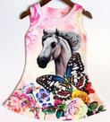 Jurk-Paard-Meisjes-Roze-maat-92