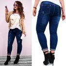 Dames-Skinny-Jeans-Donkerblauw